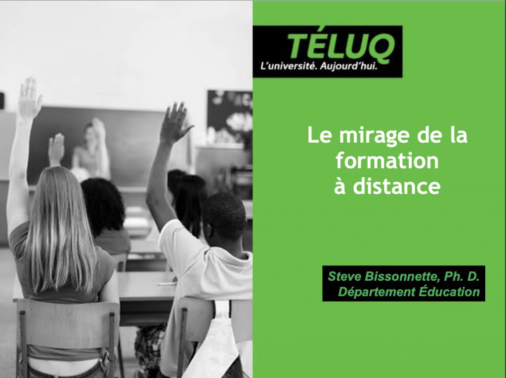 Le mirage de l'enseignement à distance