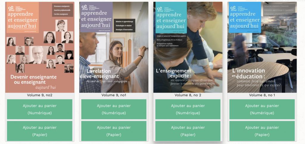 Version numérique revue Apprendre et Enseigner aujourd'hui
