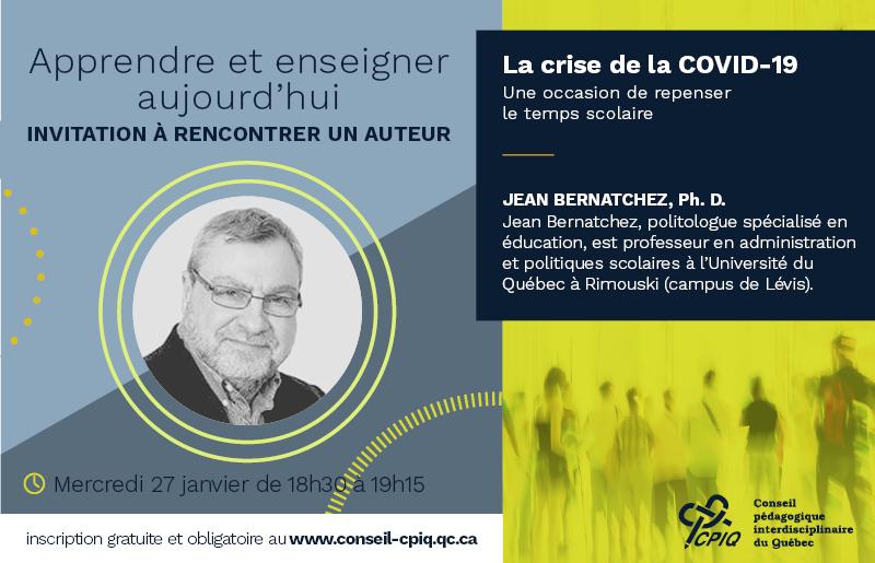webinaire_Jean Bernatchez